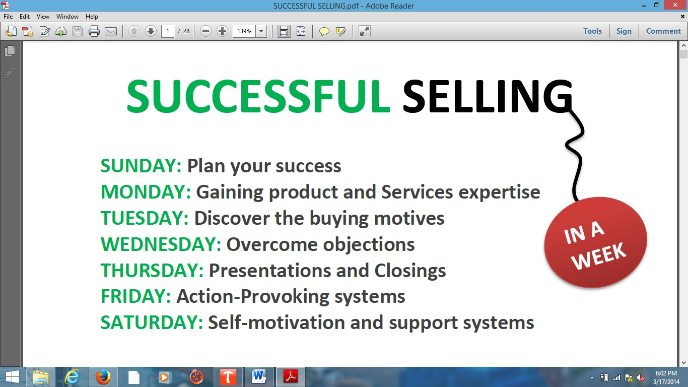 Successful Selling Income Solution eBook