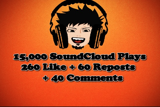 Promote SoundCloud Track To 15k REAL PLAYS + 260 Likes + 60 Reposts + 40 Comments by Top  Social Media