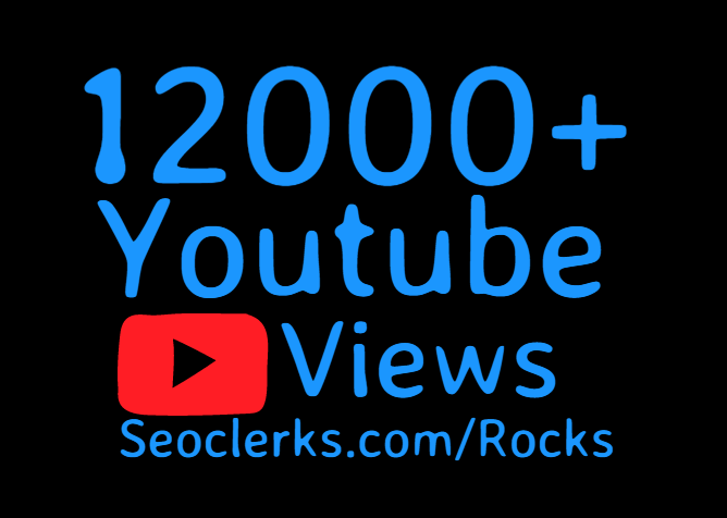 12,000+ Youtube views on your video