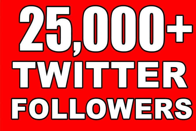 Provide Instantly 25000+ Permanent Twitter Followers Within 24-48 Hours