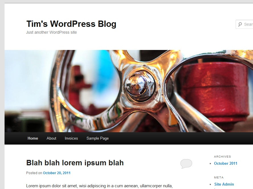 Dynamic wordpress site creation