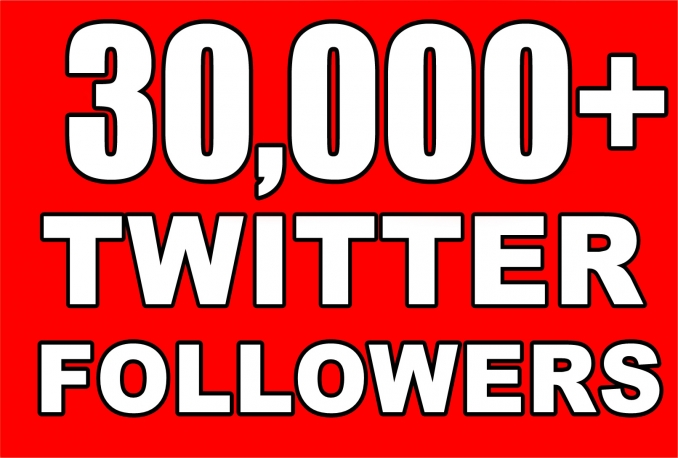 Provide Instantly 30000+ Permanent Twitter Followers Within 48 Hours