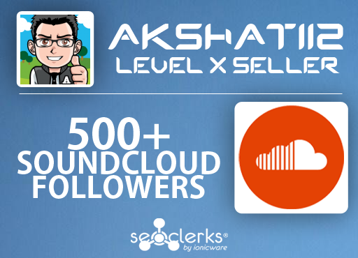 Get 500 High Quality SoundCloud Followers only