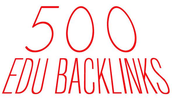 create/Build 500 Verified EDU backlink and 1000 Backlinks for your website