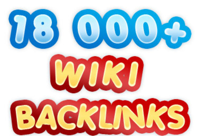 I will do 18000 contextual backlinks from 6000 WIKI pages including real seo edu