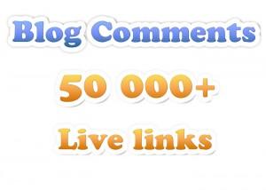 provide You service 50,000+ Verified Live Backlinks Using Blog Comments