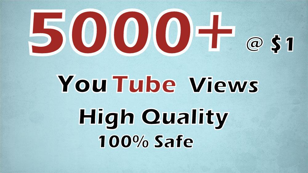 add  5000+  youtube  Views