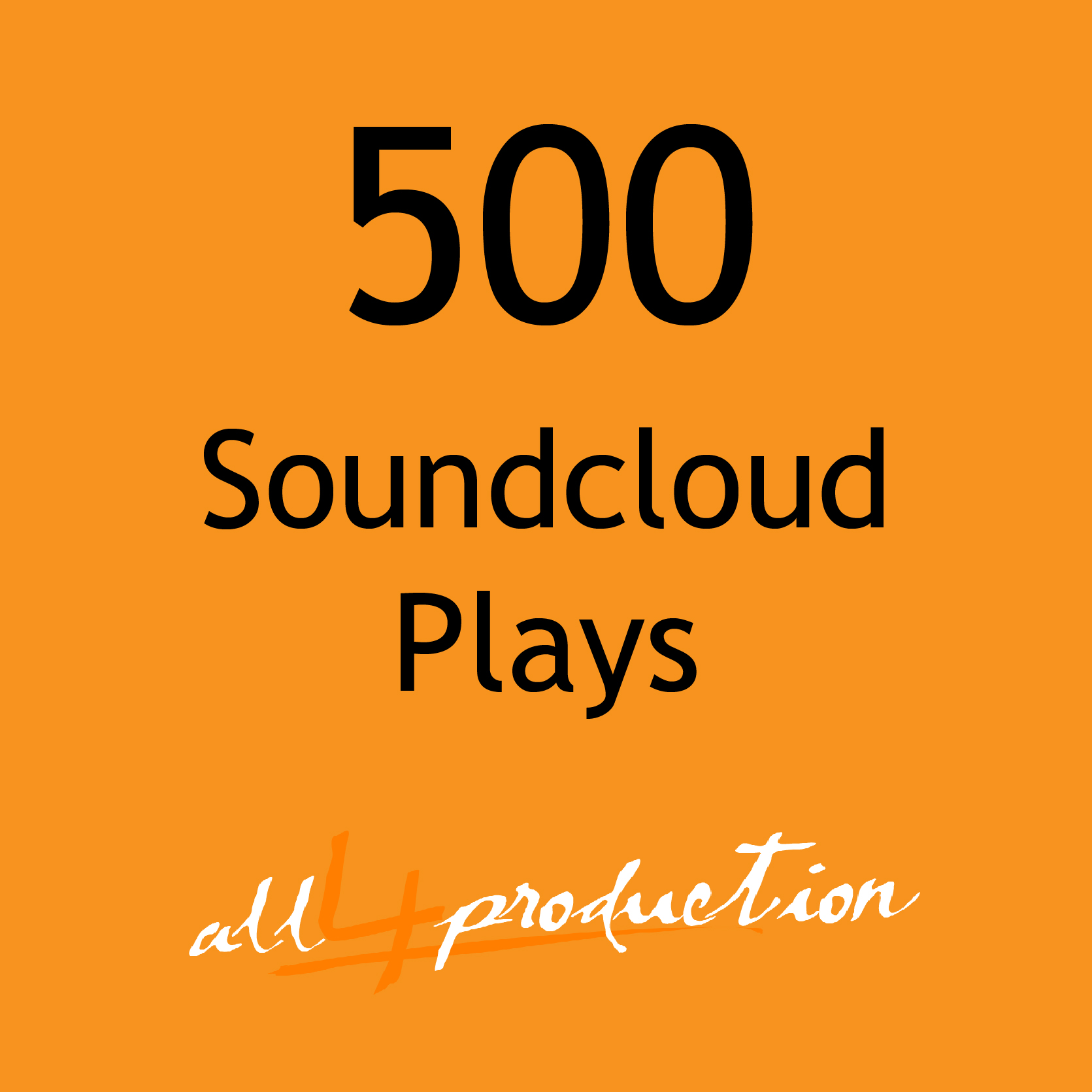 I will give you 500 Soundcloud Plays Max Split on 4 Tracks