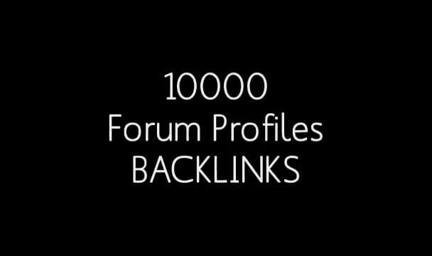 I will build 10000 Profile Backlinks with XRumer