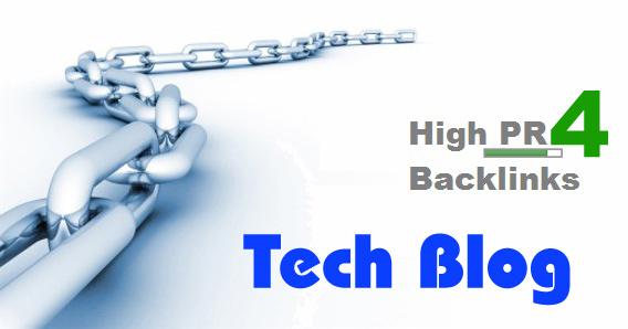 Get Backlinks from Google PR 4 Tech Blog