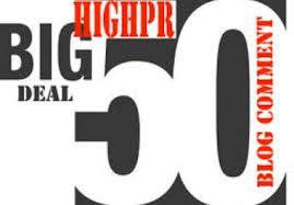 Get 50 High PR backlinks through blog commenting 15-PR2, 12-PR3 10-PR4, 10-PR5, 2-PR6, 1-PR7
