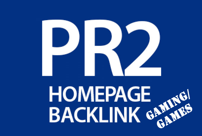 Anchor Rich PR2 Homepage Link from Game Site 1 month