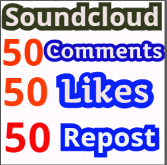 Get Soundcloud 50 Comments 50 Likes,50 Repost within 24 hours