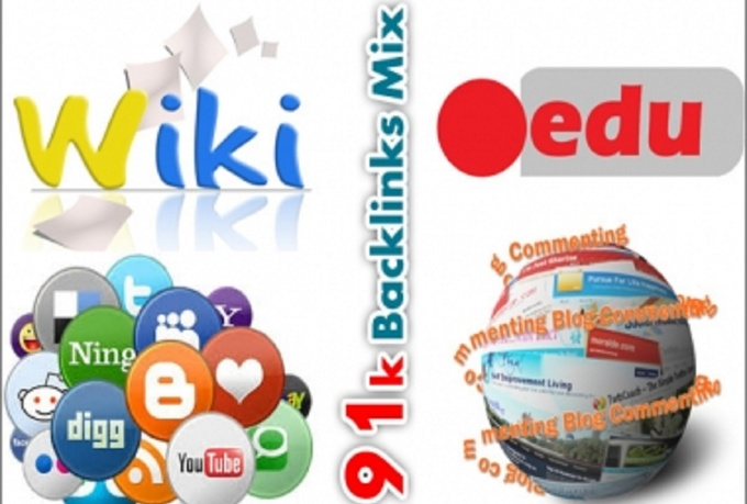 91,000 backlinks mix of wiki, social, edu, blog comments