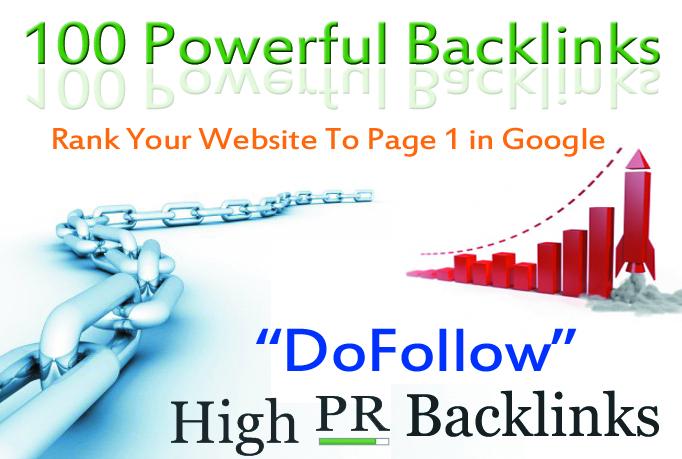 Verified 100 High PR DoFollow Backlinks
