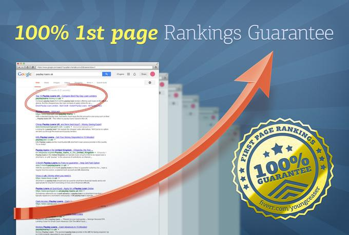 rank you 1st in Google SEO guaranteed