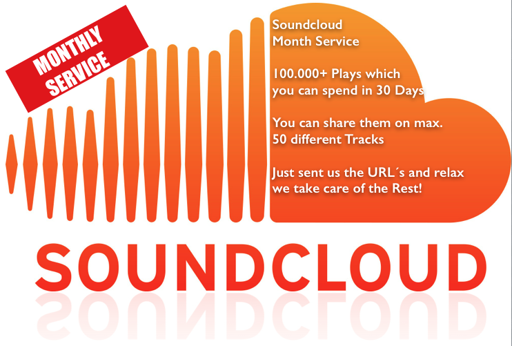 I will give you Month Soundcloud Service with 100000+ Plays on 50 Tracks