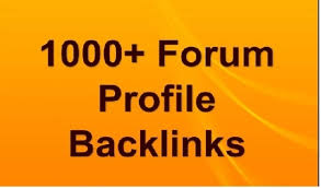 I Will Create Over 1000 High PR Forum Profile Backlin...