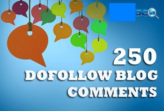 I will create 250 dofollow blog comment using my exclusive list