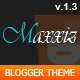 Metro Magz Blogspot Template Theme