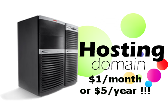 provide Cpanel Web Hosting for only One Dollar per Month