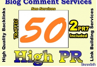 I will do MANUALLY 50 Pr4+ Blog Comment 2PR7 4PR6 16PR5 28Pr4 DoFollow Backlink for
