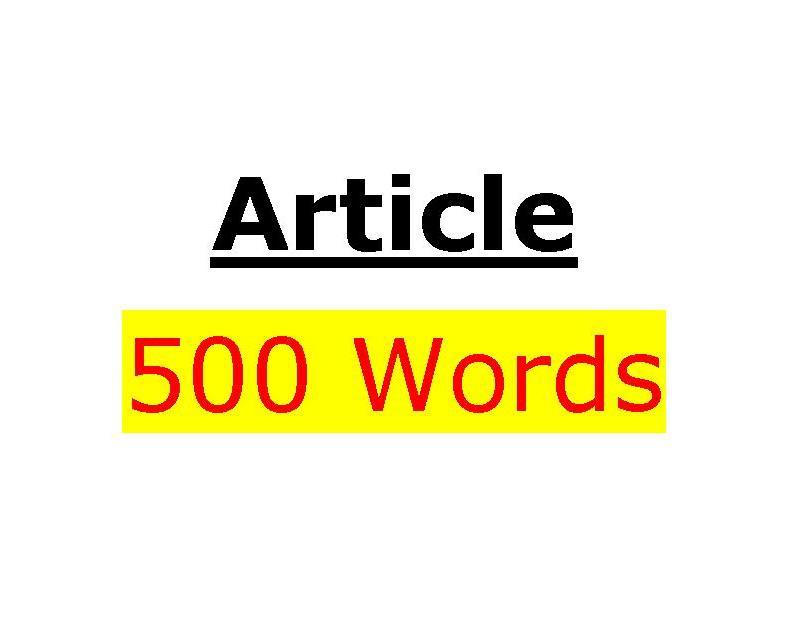 I will write a fully researched,  unique 500 Word SEO article