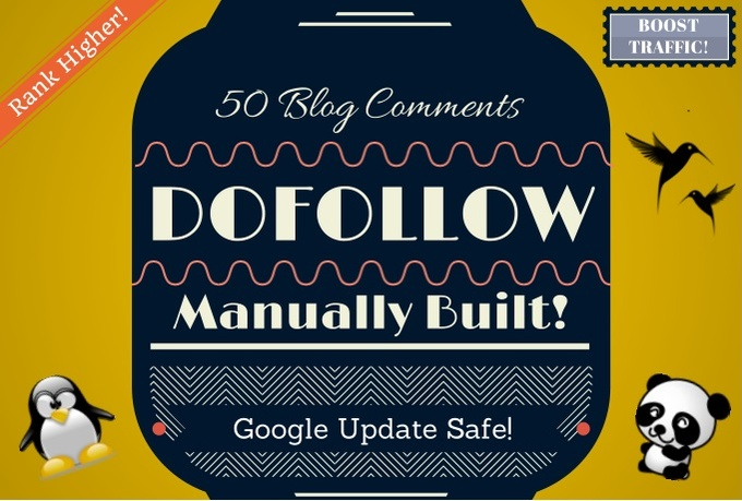 I will manually Build 50 High Pr DOFOLLOW Blog Comment Backlinks, Includes DripFeed