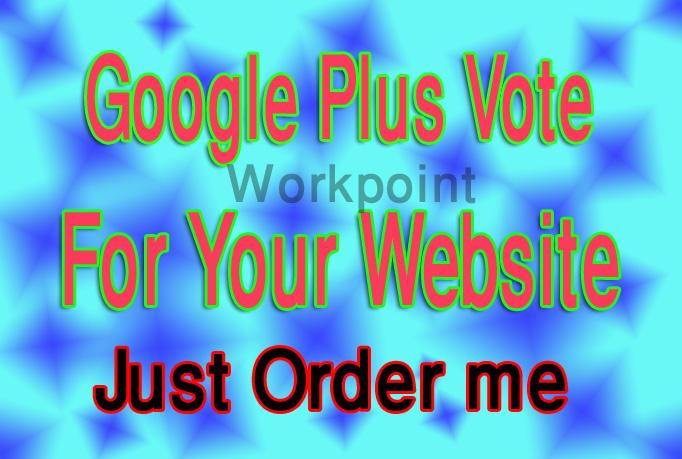 Add 105+ GOOGLE Plus Votes For Websites Or Google Plu...
