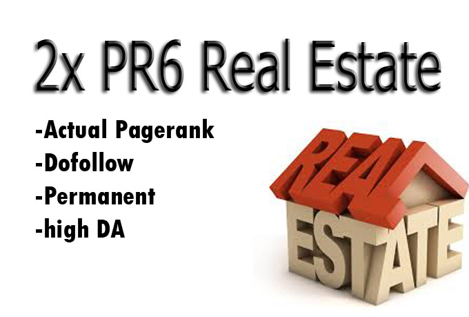 I will give your REAL ESTATE 2x PR6 actual Pagerank