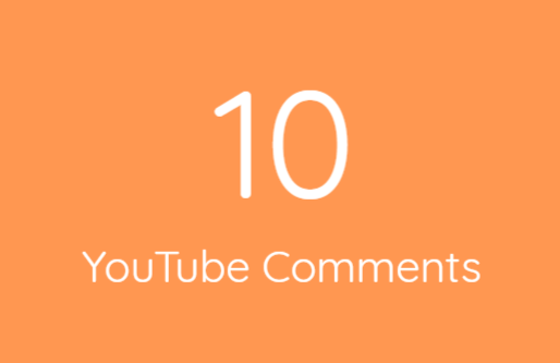 10 High Quality Comments Within 24 Hours