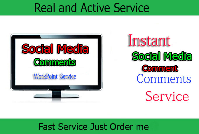 Social Media 25 Comments only
