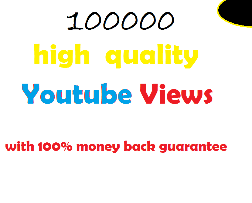 100k guaranteed non-drop youtube views in 24 hours