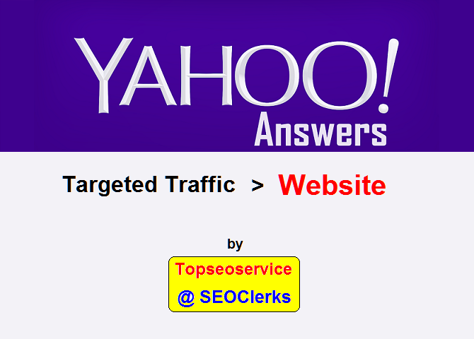 Promote 1 Yahoo Answers with Your Website
