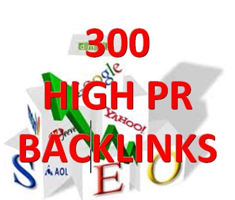 50 EDU + 300 HIGH-PR BACKLINKS PR 1-5