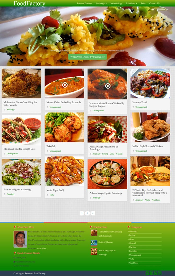 FoodFactory Theme