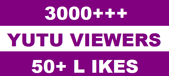 I Provide you  3000+ HQ Real Human Youtube viers 70%+ Retention up to 1 Hrs 50 tums up