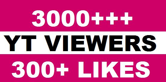 I Provide you  3000+ HQ Real Human Youtube viers 70%+ Retention up to 1 Hrs 20 tums up