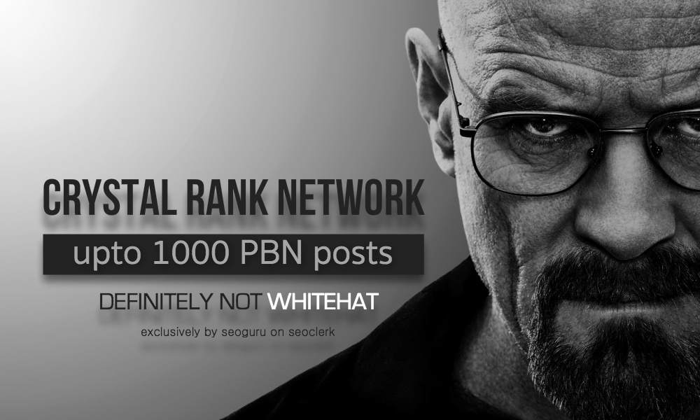 Crystal RANK Network - 200 PBN Post
