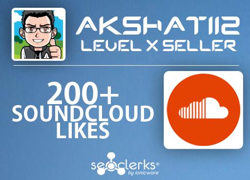 Get 200+ Soundcloud Likes