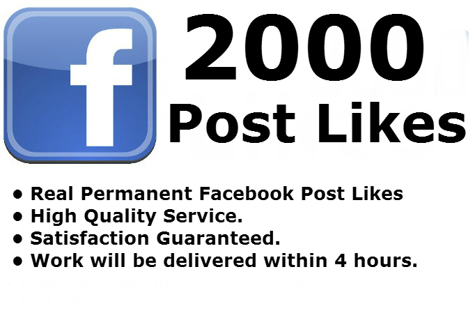 Give you 400 Fanpage likes or 4000 Photo Post Likes