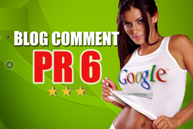 do Manual Blog Comments on 3xPR6 12xPR5 and 17xPR4 Dofollow High PR Actual Pages
