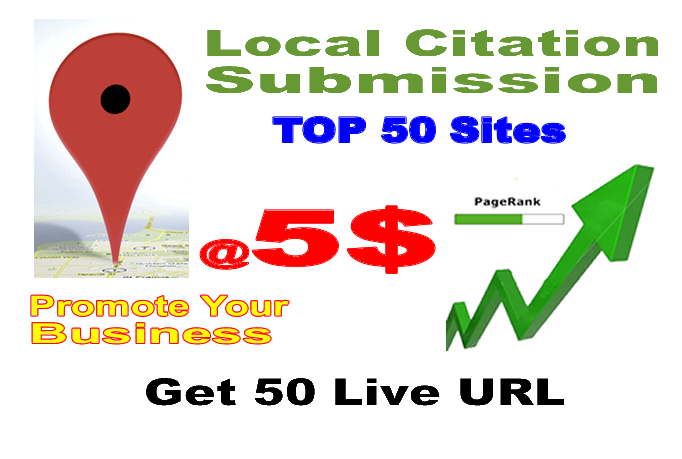 Hand Submit Business To 50 Local Citation Sites