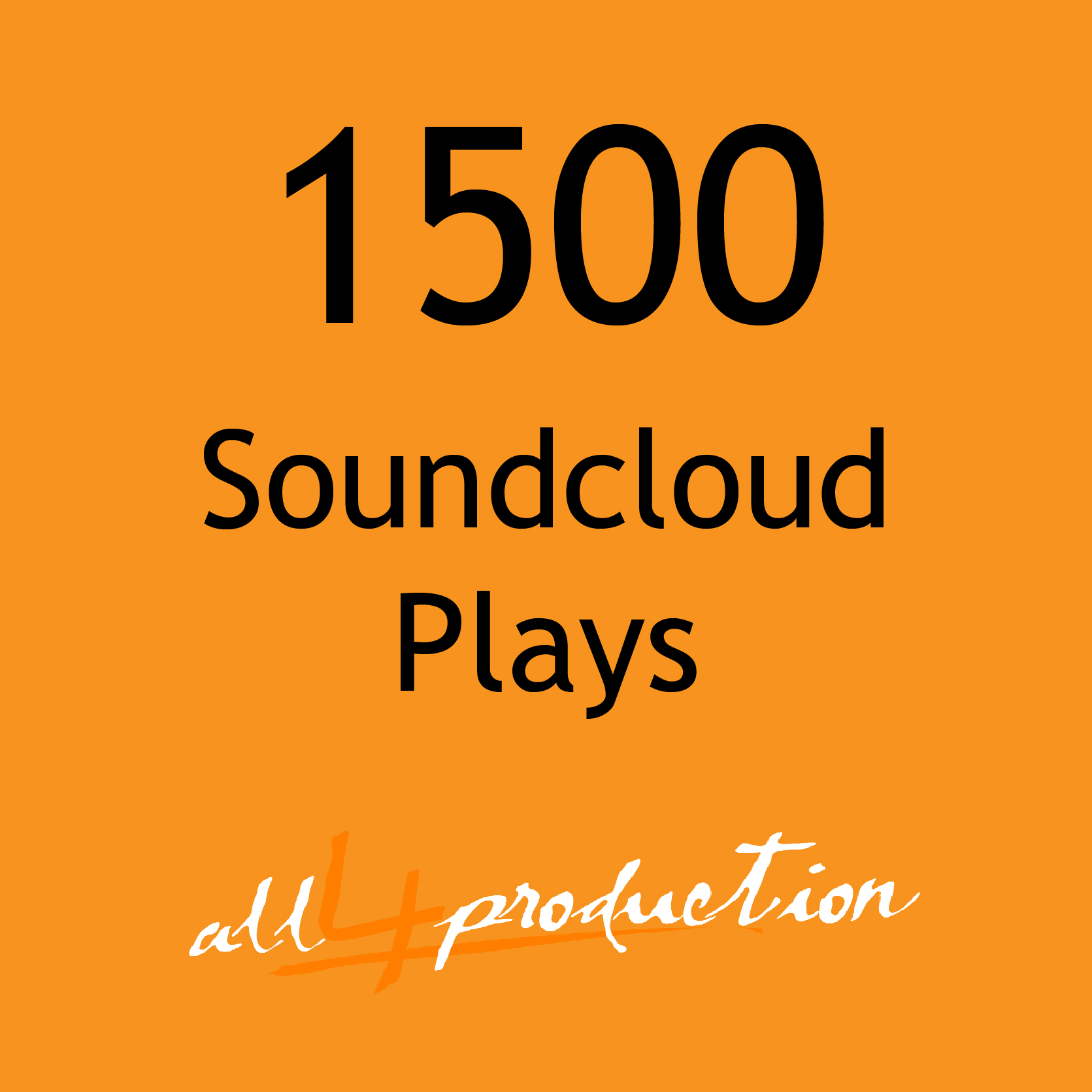 We will give you 1500 Soundcloud Plays in just 24 Hours Max Split on 4 Tracks MEGA EXPRESS SERVICE