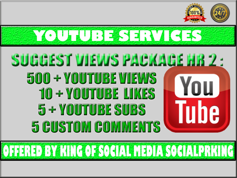 YT Suggest Package 2 will give 500 YT Suggest + 10 thumbs up + 5 audience + 5 reactions to your video