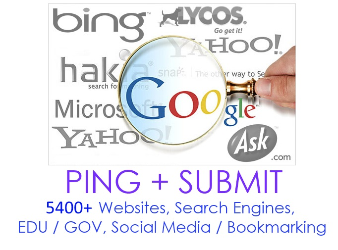 Ping + backlinks + submit your site to over 12800+ sites