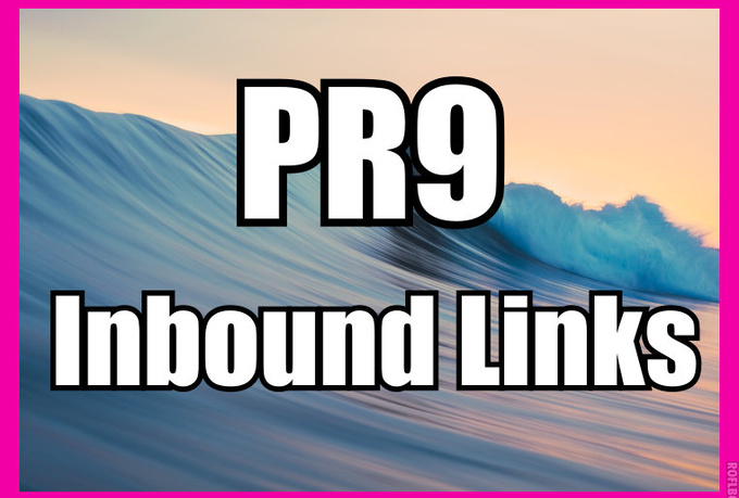manually create 60 PR9 Inbound links from established websites