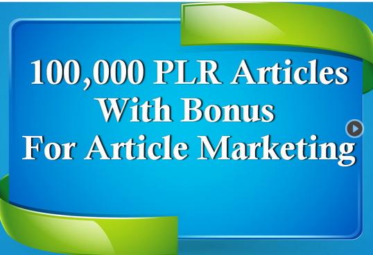 100,000 PLR Articles