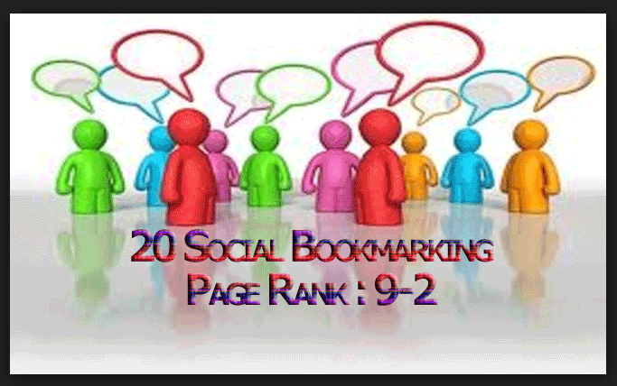 I will Bookmark Manually in Top 10 PR10 to PR2 Social bookmarking sites