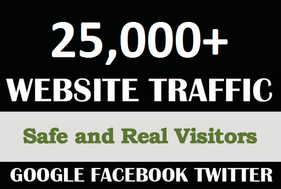 I will drive over 25000 country targeted traffic to your website